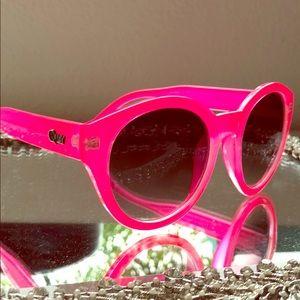 Quay Australia bright pink sunglasses